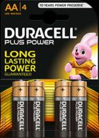 Batteria Duracell Plus Power Alkalina AA LR6 Stilo Blister da 4 Batterie