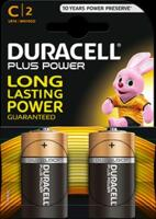 Batteria Duracell Plus Power Alkalina C LR14 Mezza Torcia Blister da 2 Batterie