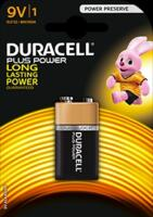 Batteria Duracell Plus Power Alkalina 6LF22 Transistor Blister da 1 Batterie