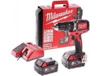 Trapano Avvitatore Brushless Con Percussione Milwaukee M18 BLPD-502C Batteria 5,0 Ah al Litio 18 Volt