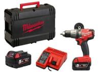 Trapano Avvitatore Brushless Con Percussione Milwaukee M18 FPD-502X Batteria 5,0 Ah al Litio 18 Volt