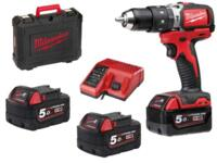 Trapano Avvitatore Brushless Con Percussione Milwaukee M18 BLPD-503C Batteria 5,0 Ah al Litio 18 Volt