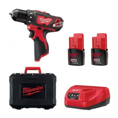 Trapano Avvitatore Compatto Milwaukee M12BDD-152C Batteria 1,5 Ah Al Litio 12 Volt