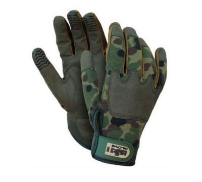 Guanto High Tech ISSA 07325 ARMY con palmo in pelle sintetica